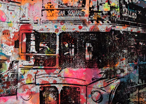 Art by Bobby Hill - London Double Decker Bus
