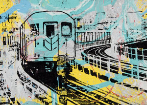 Art by Bobby Hill - Elevated Train NYC