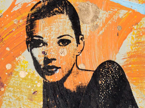 Art Print by Bobby Hill - Kate Moss
