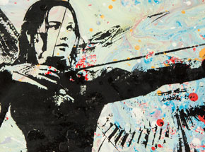 Art by Bobby Hill - Katniss Everdeen