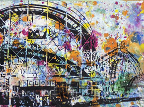 Art by Bobby Hill - Cyclone Coney Island NYC