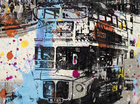 Art by Bobby Hill - London Street With Bus