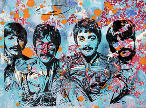 Art by Bobby Hill - The Beatles