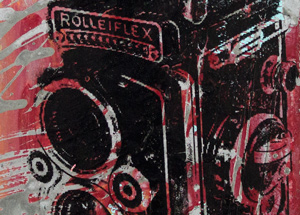 Art by Bobby Hill - Rollieflex Vintage Camera