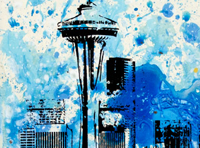 Art Print by Bobby Hill - Seattle Needle 02