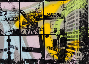 Art by Bobby Hill - Street Sign / Flatiron Building / Times Square Coming