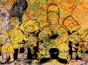 Art by Bobby Hill - The Simpsons III