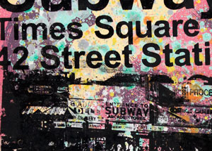 Art by Bobby Hill - Times Square / 1980s 42nd St