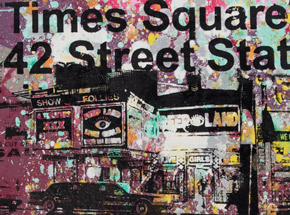 Art by Bobby Hill - Times Square / Peep Land / 1980s 42nd St. - 02
