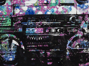 Art by Bobby Hill - Turntables Boombox