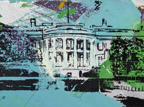 Art Print by Bobby Hill - The Whitehouse