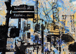 Art by Bobby Hill - Williamsburg Bridge / 7th Ave Sign / Nostrand Train Stop