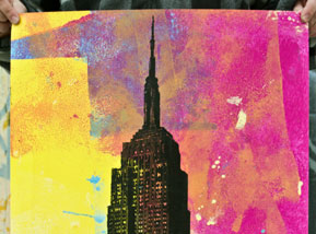 Art Print by Bobby Hill - Empire State (No Splatters Variants)