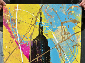 Art Print by Bobby Hill - Empire State (Yellow Variants)