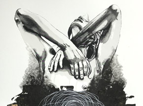 Hand-painted Multiple by Brandon Boyd - Lauren In Transit - Hand-Painted Multiple 10