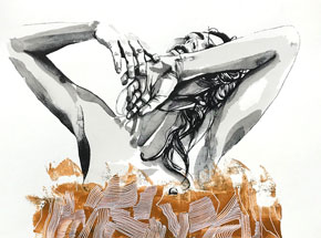 Hand-painted Multiple by Brandon Boyd - Lauren In Transit - Hand-Painted Multiple 11