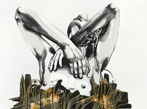 Hand-painted Multiple by Brandon Boyd - Lauren In Transit - Hand-Painted Multiple 08