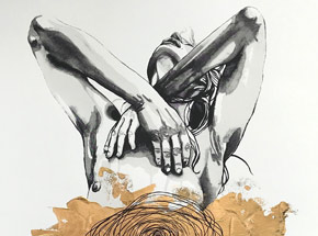 Hand-painted Multiple by Brandon Boyd - Lauren In Transit - Hand-Painted Multiple 01