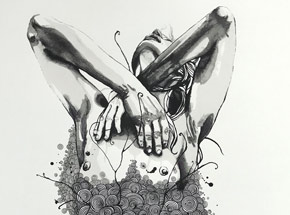 Hand-painted Multiple by Brandon Boyd - Lauren In Transit - Hand-Painted Multiple 02