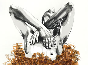 Hand-painted Multiple by Brandon Boyd - Lauren In Transit - Hand-Painted Multiple 04