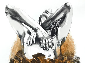Hand-painted Multiple by Brandon Boyd - Lauren In Transit - Hand-Painted Multiple 03