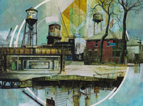 Original Art by Liz Brizzi - Motor City Odds And Ends