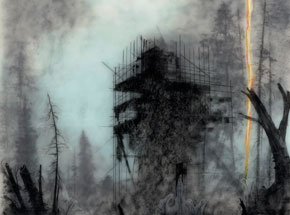 Original Art by Brook Salzwedel - Catastrophe #2 (With Fire Flare)