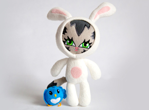 Art by Persue - The Origins of Bunny Kitty - Plush Toy