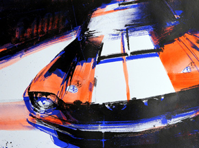 Art Print by Camilo Pardo - GT350 Blue + Orange Edition