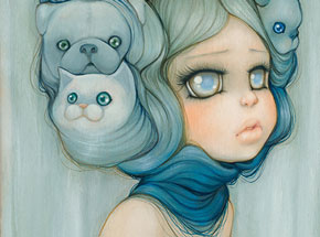 Art Print by Camilla d'Errico - Mademoiselle Gatto - Limited Edition Prints