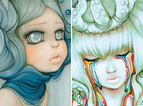 Art Print by Camilla d'Errico - Mademoiselle Gatto & Rainbow Children - Print + Signed Artbook Combo