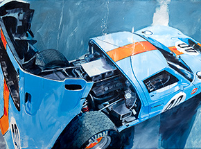 Original Art by Camilo Pardo - Gulf GT 40