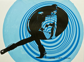 Art Print by Camilo Pardo - Circle Girl - Blue Two Tone Variant