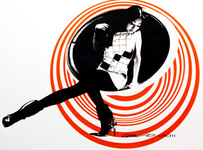 Art Print by Camilo Pardo - Circle Girl - Orange Variant