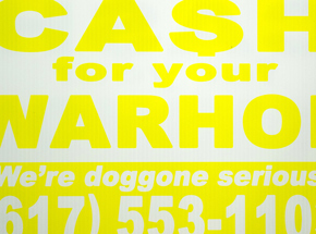 Hand-painted Multiple by Cash For Your Warhol - We're Doggone Serious 03 - 12x18 Inch