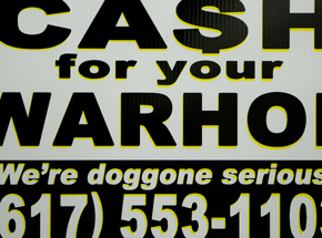 Hand-painted Multiple by Cash For Your Warhol - We're Doggone Serious 06 - 12x18 Inch