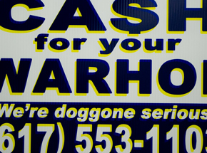 Hand-painted Multiple by Cash For Your Warhol - We're Doggone Serious 07 - 12x18 Inch