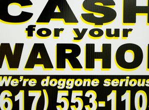 Hand-painted Multiple by Cash For Your Warhol - We're Doggone Serious 13 - 12x18 Inch