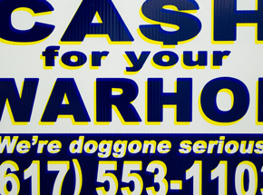Hand-painted Multiple by Cash For Your Warhol - We're Doggone Serious 14 - 12x18 Inch