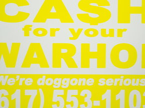 Hand-painted Multiple by Cash For Your Warhol - We're Doggone Serious 16 - 12x18 Inch