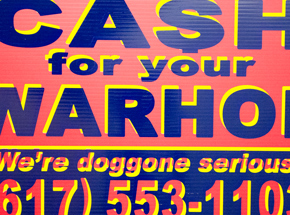 Hand-painted Multiple by Cash For Your Warhol - We're Doggone Serious 17 - 12x18 Inch