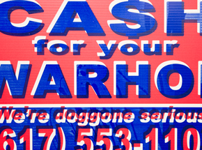 Hand-painted Multiple by Cash For Your Warhol - We're Doggone Serious 20 - 12x18 Inch