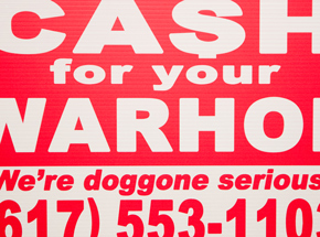 Hand-painted Multiple by Cash For Your Warhol - We're Doggone Serious 21 - 12x18 Inch