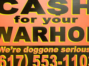 Hand-painted Multiple by Cash For Your Warhol - We're Doggone Serious 24 - 12x18 Inch
