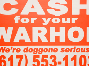 Hand-painted Multiple by Cash For Your Warhol - We're Doggone Serious 25 - 12x18 Inch