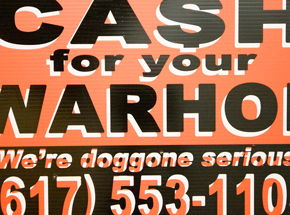 Hand-painted Multiple by Cash For Your Warhol - We're Doggone Serious 26 - 12x18 Inch