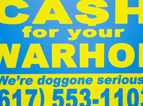 Hand-painted Multiple by Cash For Your Warhol - We're Doggone Serious 29 - 12x18 Inch