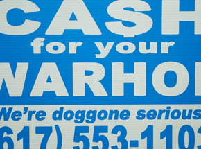 Hand-painted Multiple by Cash For Your Warhol - We're Doggone Serious 30 - 12x18 Inch
