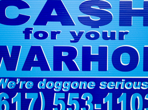 Hand-painted Multiple by Cash For Your Warhol - We're Doggone Serious 31 - 12x18 Inch