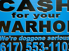 Hand-painted Multiple by Cash For Your Warhol - We're Doggone Serious 32 - 12x18 Inch